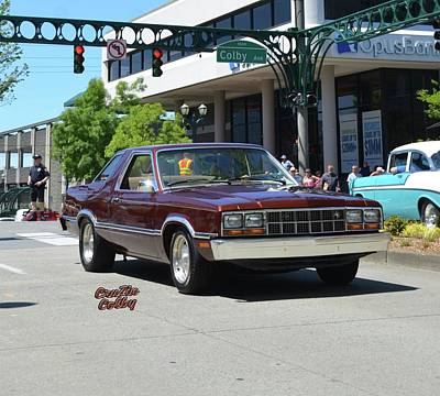 1983 Ford Fairmont Futura Starkey Art Print by Mobile Event Photo Car Show Photography