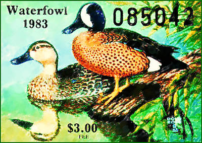 Painting - 1983 Missouri Waterfowl Stamp by Lanjee Chee
