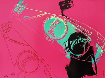 1983 Original Andy Warhol Pop Art Poster, Perrier Advertisement Original