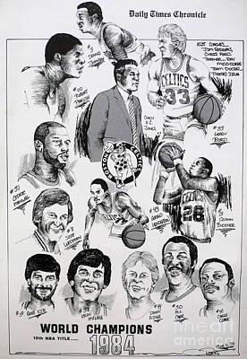 1984 Boston Celtics Championship Newspaper Poster Art Print