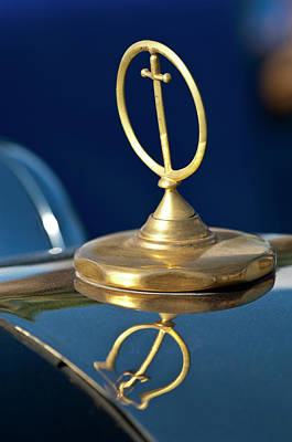Hoodies Photograph - 1984 Excalibur Roadster Hood Ornament by Jill Reger