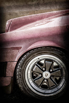 1984 Photograph - 1984 Porsche 911 Carrera Wheel Emblem -2270ac by Jill Reger