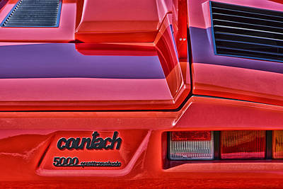 Photograph - 1985 Lamborghini Countach 5000 Quattrovalvole by Mike Martin