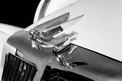 Photograph - 1986 Classic Tiffany Coupe Hood Ornament Detail  -  86tifforn22 by Frank J Benz