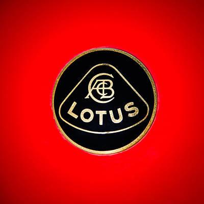 Photograph - 1986 Lotus Turbo Esprit Hcl Emblem -1734c by Jill Reger