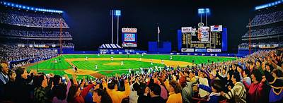 Shea Stadium Painting - 1986 World  Series At Shea by T Kolendera