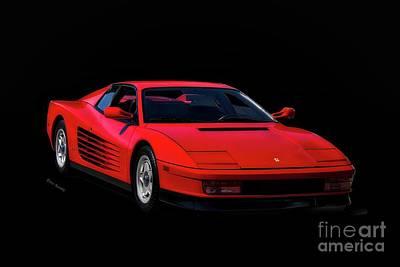 1987 Ferrari Testa Rossa Art Print by Dave Koontz