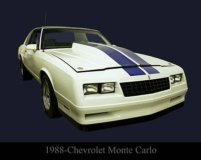 Digital Art - 1988 Chevy Monte Carlo by Chris Flees