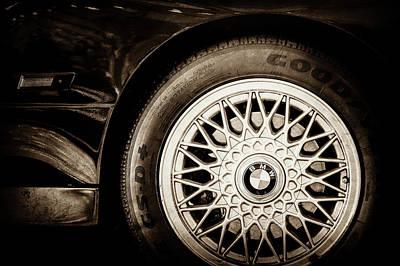 Photograph - 1989 Bmw E30 M3 Convertible Wheel -0878s by Jill Reger