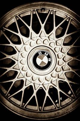 Photograph - 1989 Bmw E30 M3 Convertible Wheel Emblem -0879s by Jill Reger