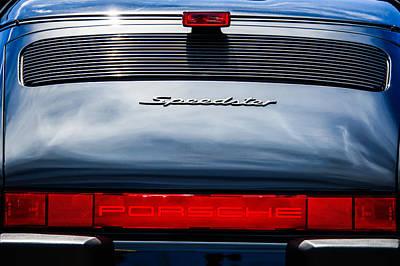 Photograph - 1989 Porsche Speedster Convertible Tail Light Emblem -0281c by Jill Reger