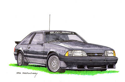 Painting - 1989 Saleen Mustang by Jack Pumphrey