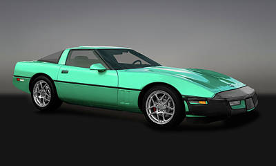 Photograph - 1990 C4 Chevrolet Corvette  -  1990chevycorvettegry173288 by Frank J Benz