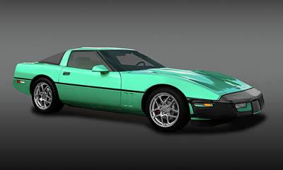 Photograph - 1990 C4 Chevrolet Corvette  -  1990chevyvettefa173288 by Frank J Benz