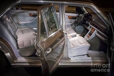 Photograph - 1990 Mercedes Sel Interior by Gunter Nezhoda