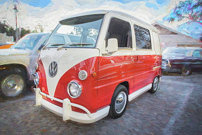 Photograph - 1990 Subaru Sambar Van Bus C143 by Rich Franco