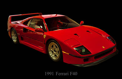 Digital Art - 1991 Ferrari F40 by Chris Flees