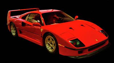 Painting - 1991 Ferrari F40 Digital Art by Chris Flees