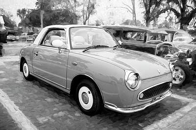 Photograph - 1991 Nissan Figaro by Rich Franco
