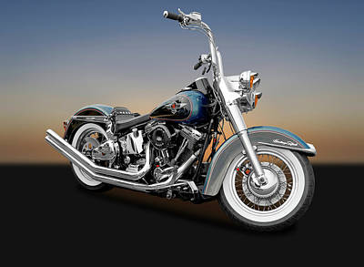 Photograph - 1995 Harley-davidson Heritage Softail Motorcycle  -  1995harleyheritagesoftail170264 by Frank J Benz