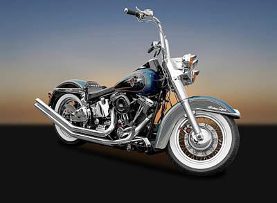 Photograph - 1995 Harley-davidson Heritage Softail Motorcycle  -  1995harleyheritagesoftail170264 by Frank J Benz