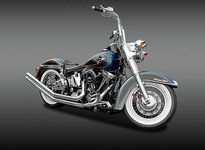 Photograph - 1995 Harley-davidson Heritage Softail Motorcycle  -  95hdheritagesoftfa170264 by Frank J Benz