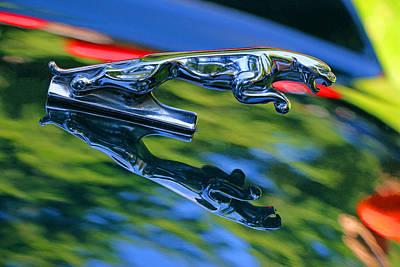 Photograph - 1995 Jaguar X J S Hood Ornament by Allen Beatty