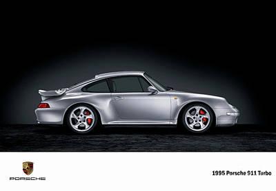 Digital Art - 1995 Porsche 911 Turbo. by Mohamed Elkhamisy