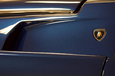 Photograph - 1996 Lamborghini Diablo Vt Roadster Emblem by Jill Reger