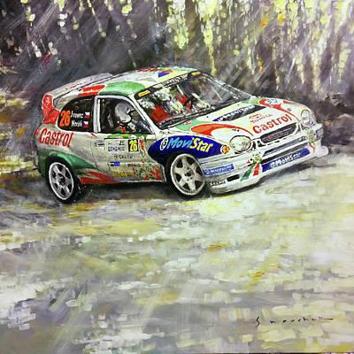 Sport Oil Painting - 1997-1999 Toyota Carolla Wrc by Yuriy Shevchuk