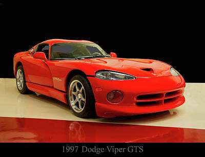 Digital Art - 1997 Dodge Viper Gts Red by Chris Flees