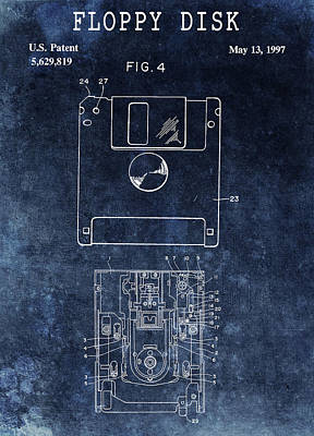 Drawing - 1997 Floppy Disk Patent by Dan Sproul