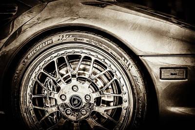 Photograph - 1997 Lamborghini Diablo Roadster Wheel Emblem 01288s by Jill Reger