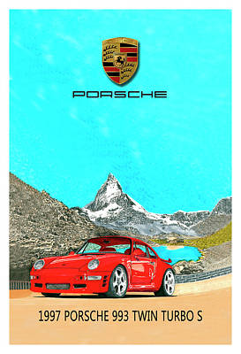 Painting - 1997 Porsche 993 Twin Turbo R  by Jack Pumphrey