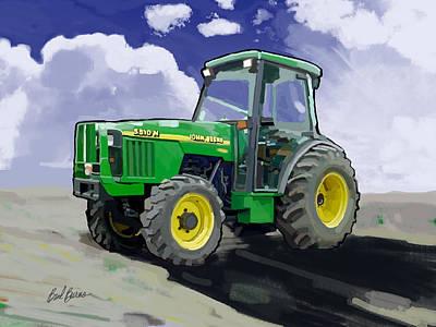John Deere Painting - 1998 John Deere 5510n Farm Tractor by Brad Burns