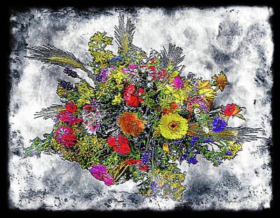 Photograph - 19a Abstract Floral Painting Digital Expressionism by Ricardos Creations