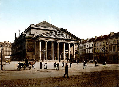 Music Theme Painting - 19th C. Royal Theatre Of Brussels by Historic Image