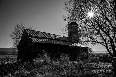 Amy Weiss - 19th Century Barn in BW by Steve Kwiatkowski