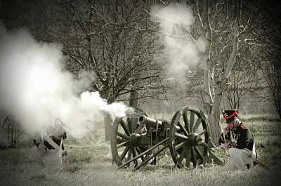 Skirmish Digital Art - 19th Century Battle Reenactment by Jaroslaw Grudzinski