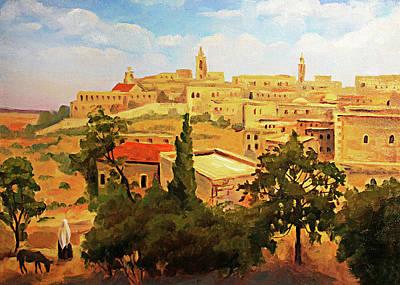 Photograph - 19th Century Bethlehem Painting  by Munir Alawi