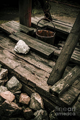 Pulley Photograph - 19th Century Shaft Mining by Jorgo Photography - Wall Art Gallery