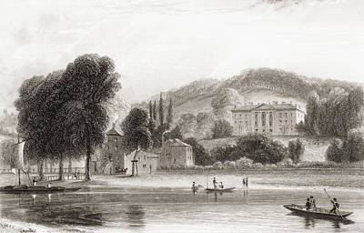 19th Century View Of Beaumont Lodge Art Print