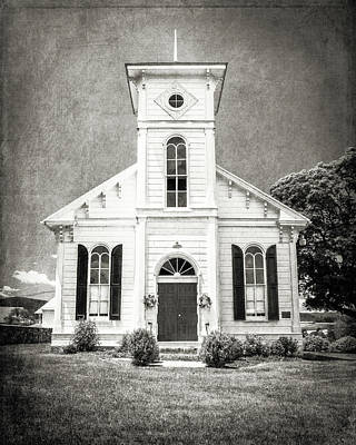 Franklin Township Photograph - 19th Century White Chapel by Emily Kay