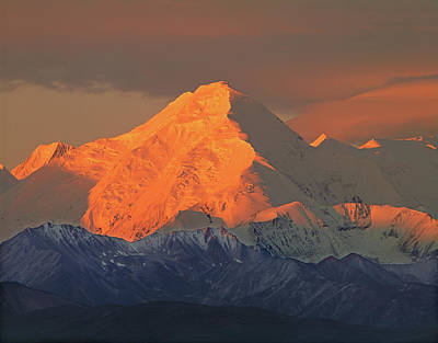 Photograph - 1m1320 Sunrise On Mt. Brooks Ak by Ed Cooper Photography