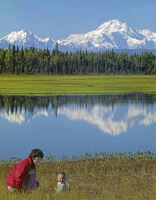 Photograph - 1m1326 Wife And Son In Denali National Park by Ed Cooper Photography