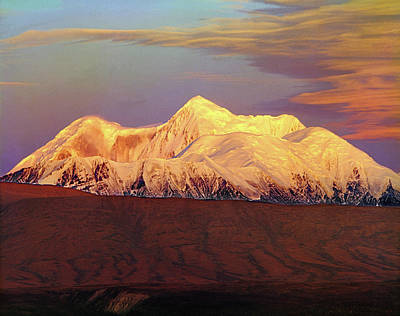 Photograph - 1m1423 Mt. Hayes Alaska by Ed Cooper Photography