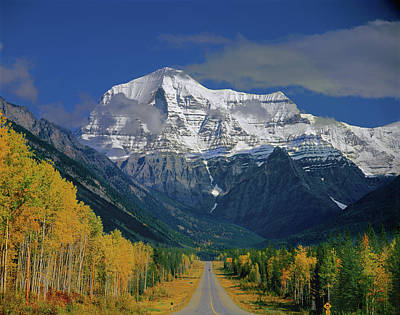 Photograph - 1m2441-h Mt. Robson And Yellowhead Highway H by Ed Cooper Photography