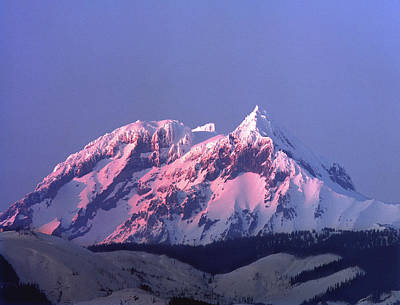 Photograph - 1m2908 Sunset On Mt. Garibaldi, B.c. by Ed Cooper Photography