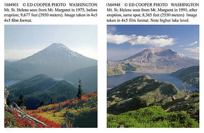 Photograph - 1m4903 And 1m4948 Mt. Saint Helens Before And After Wa by Ed Cooper Photography