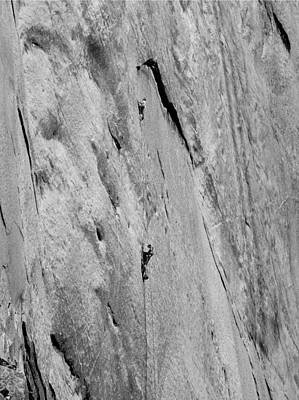 Photograph - 1m6527 Bw Aquarian Wall 1st Ascent by Ed Cooper Photography